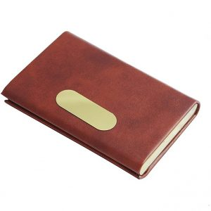 Urban Gear Elegant Style Leather Business Card Holder