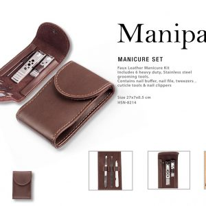 Urban Gear Manipac Manicure Set | Nail Buffer, Nail File, Tweezers, Cuticle Tools & Nail Clippers