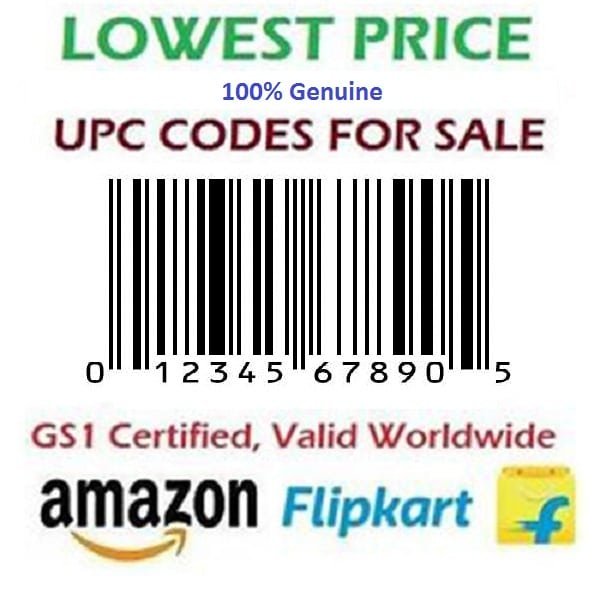 50 UPC code for amazon India, Ebay, Flipkart, Amazon USA, 100% Genuine