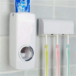 TGS – Automatic Toothpaste Dispenser & Tooth Brush Holder (White)